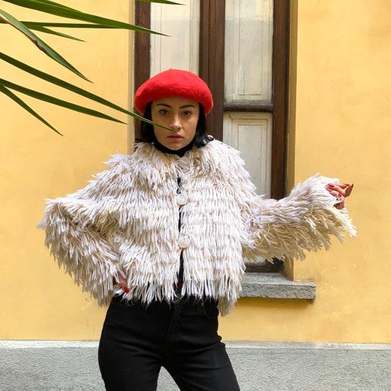 Fringed knitting jacket
