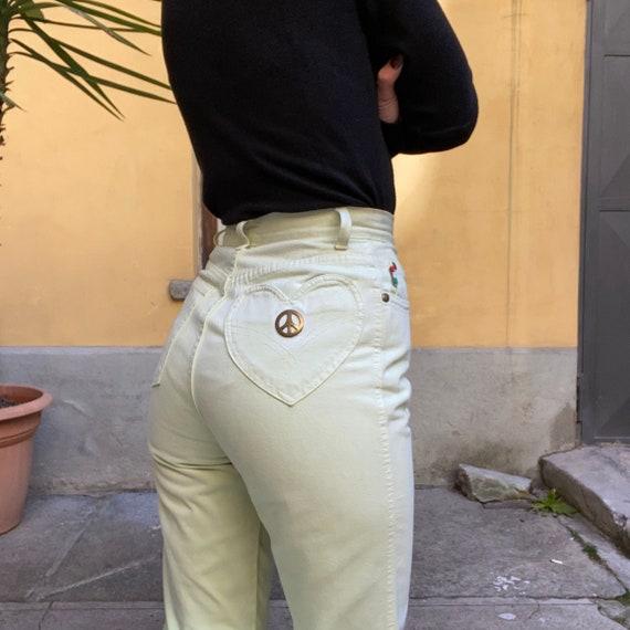 Moschino mint high waisted pants