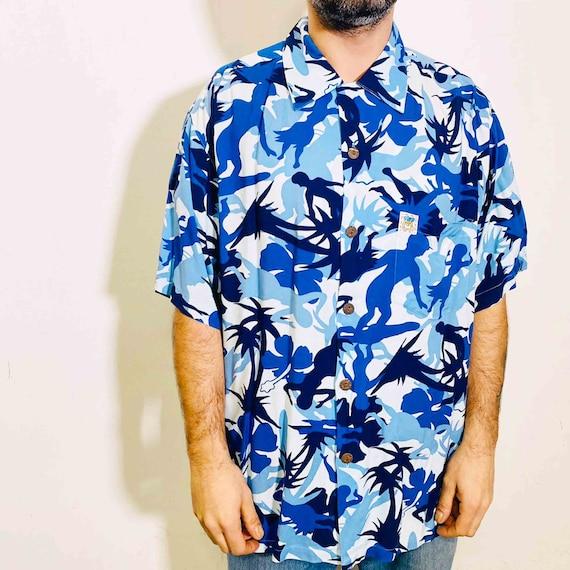 Vintage Mambo Hawaian blue shirt