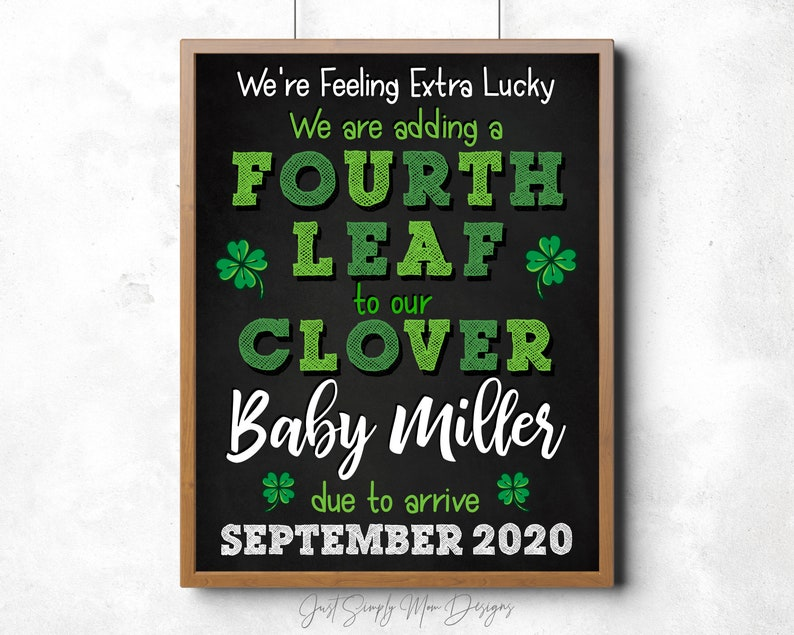 St Patricks Day Pregnancy Announcement Sign