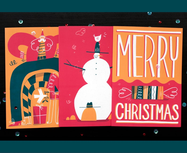 Illustrated Christmas Cards image 0