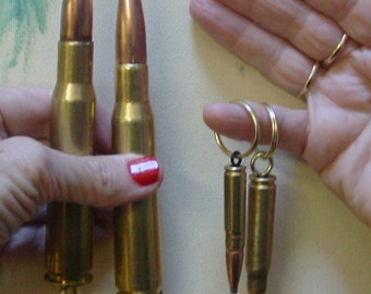 1 50 cal bmg BEER  BOTTLE OPENER HOGS TOOTH Bullet TIP  KEY CHAIN 1/'  RING