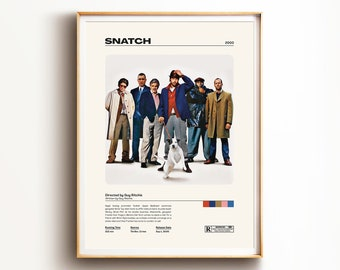 A3 A4 Sizes Snatch Classic Movie Poster Canvas Framed Art Print