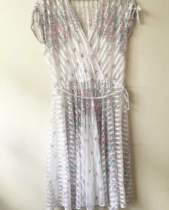 1970s sheer wrap dress