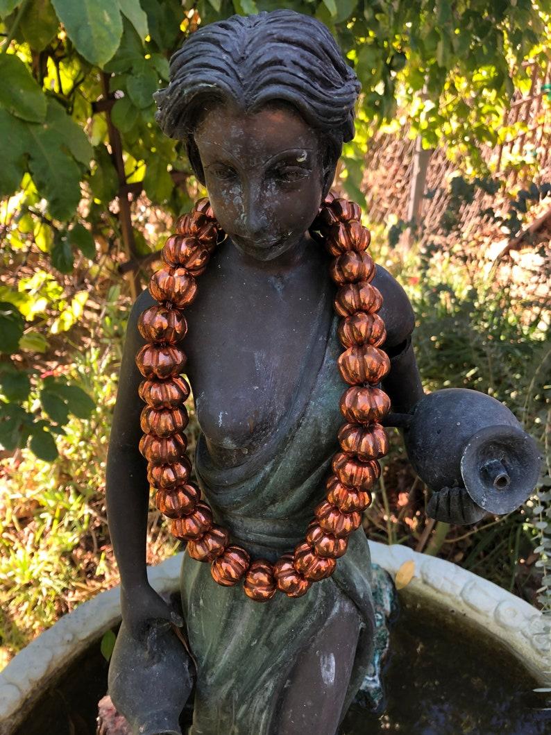 Vintage Santa Clara de Cobra Copper Beadsnecklace