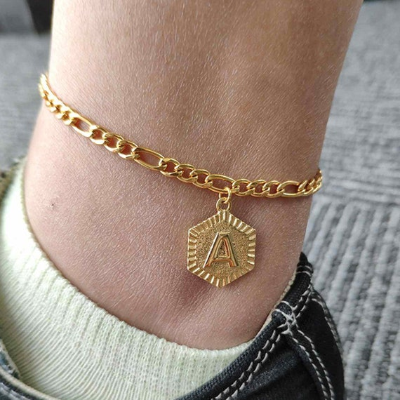 CHAIN ANKLET ANKLE BRACELET SILVER GOLD BEACH SUMMER MINIMAL JEWELLERY GIFT NEW