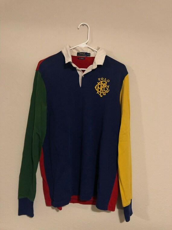 vintage 1990s polo ralph Lauren colorblock rugby s