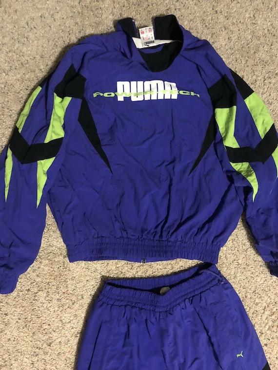 Vintage 80s 90s Puma Power Tech Full Track Suit, P