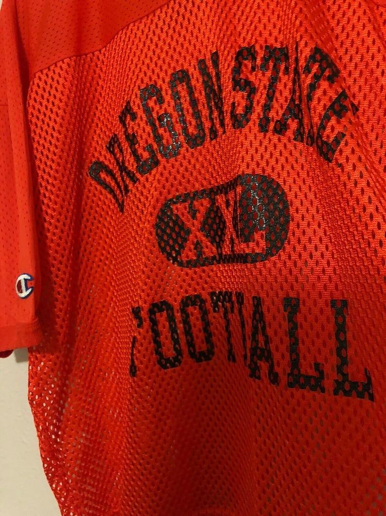Champion Tag Large Orange Vintage 1990s Oregon State Football Practice Jersey