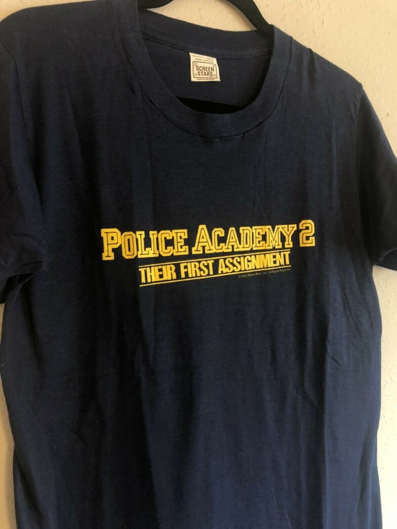 1985 Vintage Police Academy 2 Movie Promo T-Shirt,