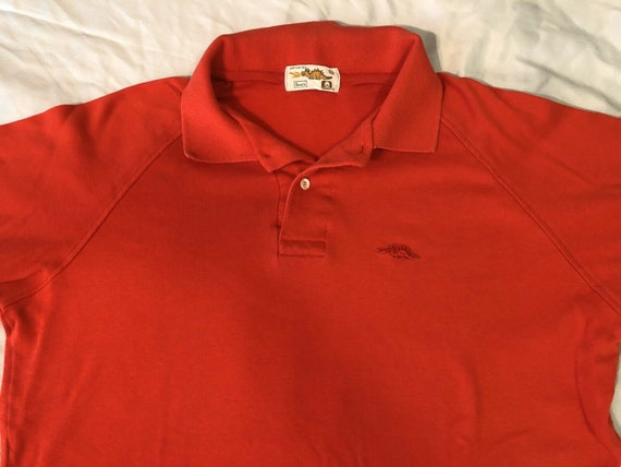 Vintage 1980s 80s Sears Dragon Polo T-Shirt, Red … - image 5