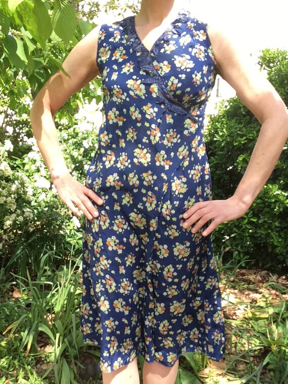 Vintage 1930s silk dress. Day dress. - image 7