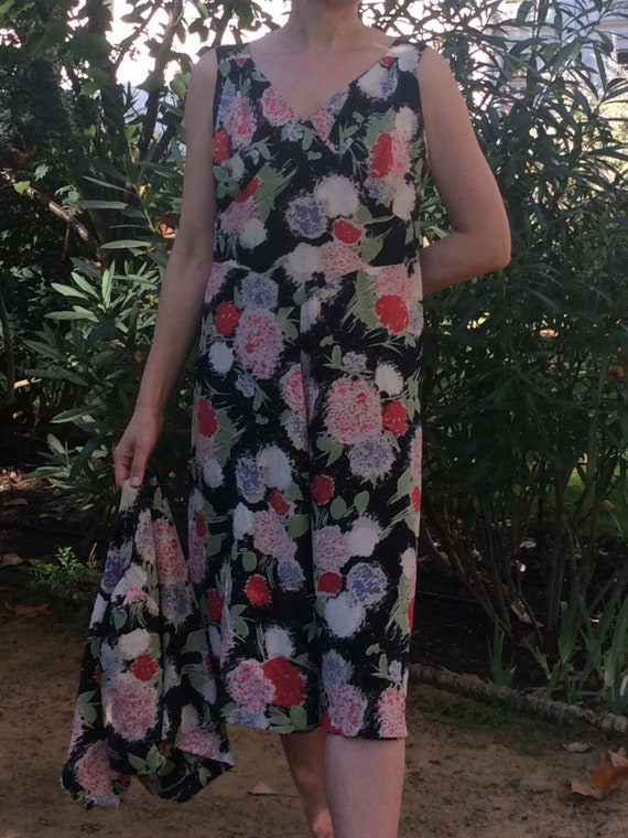 Vintage original 1930's dress. Floral dress. Chiff