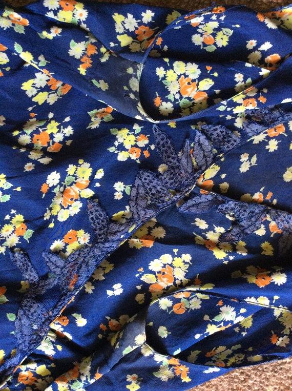 Vintage 1930s silk dress. Day dress. - image 8