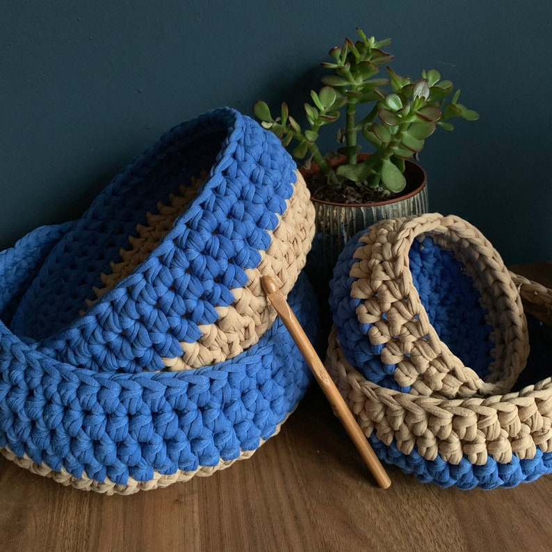 Nest & Stack Crochet Baskets 4 Sizes  Easy Crochet PATTERN image 0