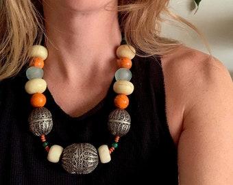 Kismet Necklace. Original, One of Kind Beaded Necklace.