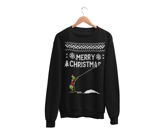 The Grinch Who Stole Christmas Ugly Sweater, Funny, Ugly Christmas Sweater, Crewneck Sweatshirt, Ugly Christmas Sweatshirt by Etsy