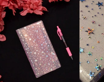 Details about  /New Handmade Clear Glittery Jelly Cover For Hobonichi Weeks Japanese Planner