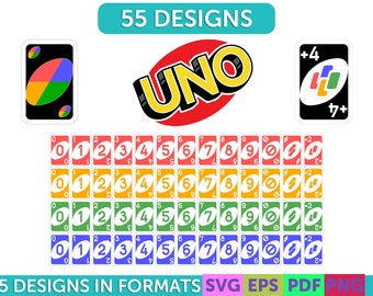 Uno Game Cards Etsy