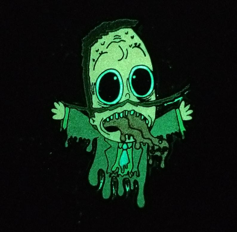 Trippy Jimmy Psychedelic Super Jail LSD Acid Blotter 90s Cartoon Glow Enamel Hat Pin Lapel Pin Animal Pin EDM Dubstep Pin Festival Pin