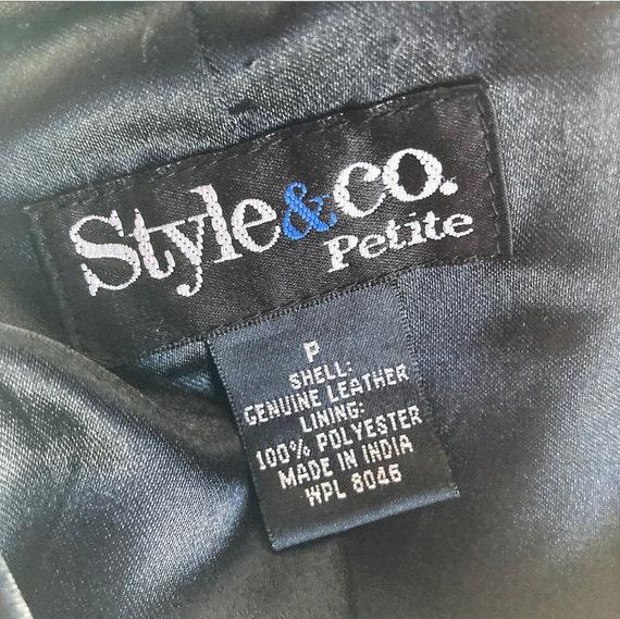 90s Black Leather Jacket - image 4