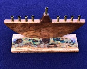 One of a kind handmade Menorah