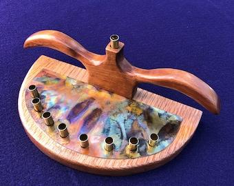 One of a kind handmade Judaic Menorah
