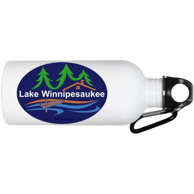Lake Winnipesaukee Water Bottle Gift for Him Gift for Her Summer Vacation New Hampshire Souvenir Lake Lover Top Rating