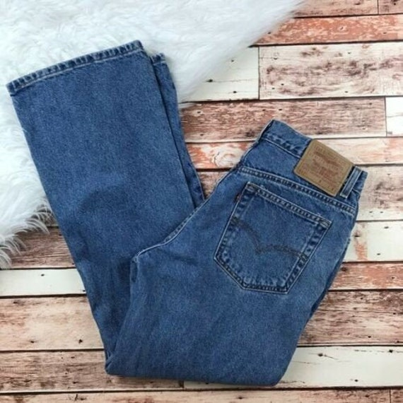 Vintage Levi's 517 cropped bootleg jeans