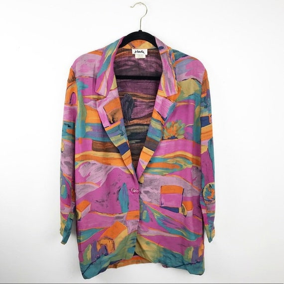 Vintage 80's abstract blazer oversized