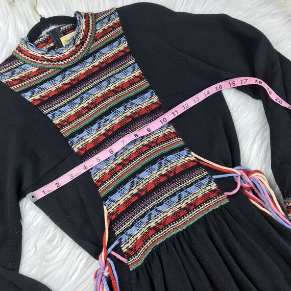 Vintage 1970s Roncelli Embroidered Peasant Dress … - image 4