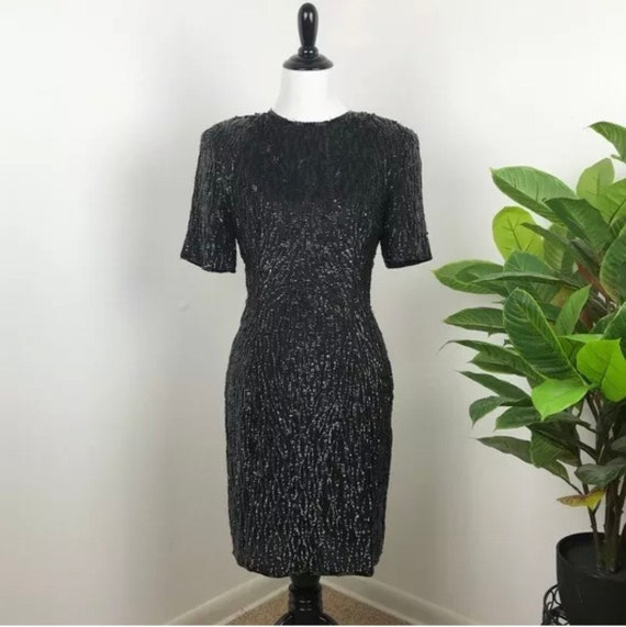 Vintage 1980's stenay sequin cocktail dress