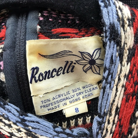 Vintage 1970s Roncelli Embroidered Peasant Dress … - image 5