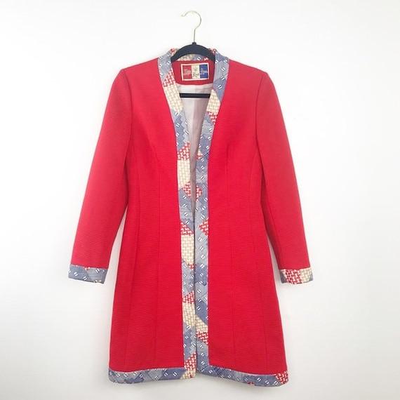 Vintage 1960's lilli Ann red knit jacket