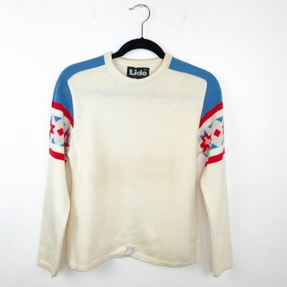 Vintage 1970's ski sweater lido of California