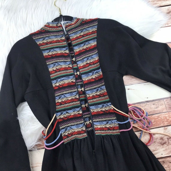 Vintage 1970s Roncelli Embroidered Peasant Dress … - image 7
