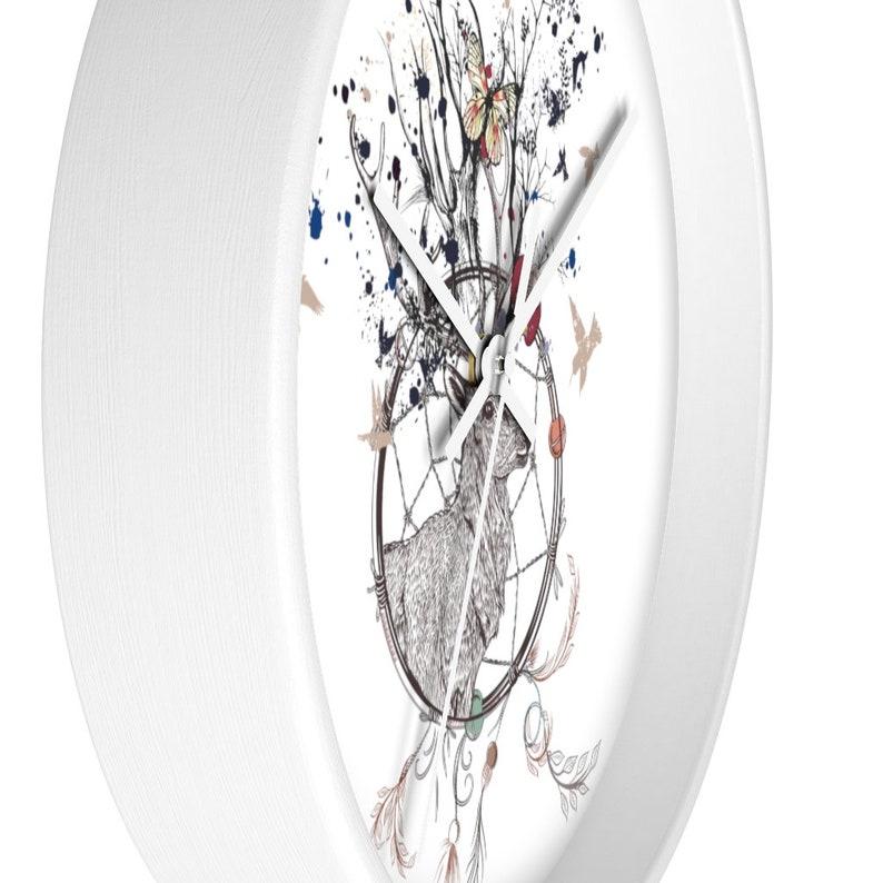 Horloge de mur de renne, horloge de mur de nature