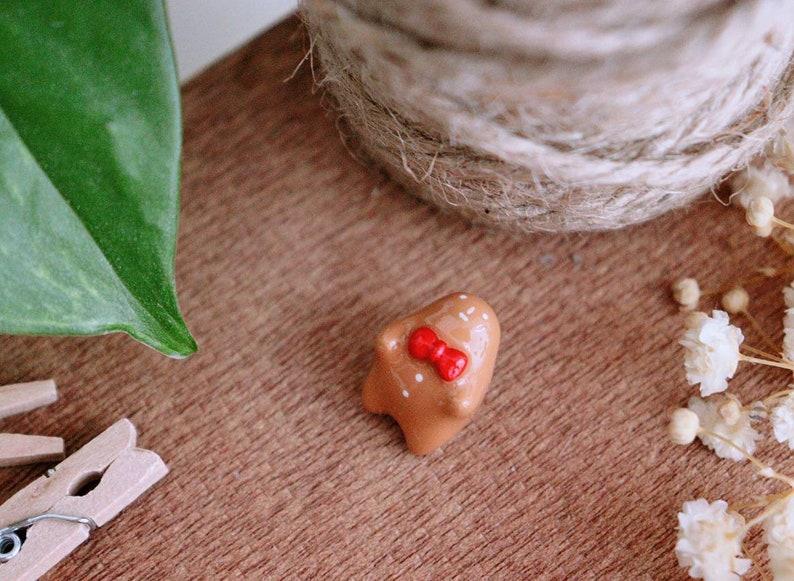 Kawaii Polymer Clay Charm Baby Gingerbread Man Charm