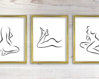 Female Body Art Etsy