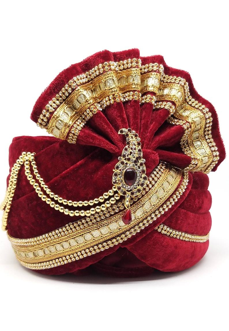 Indian Wedding Special Designer Groom Turban Mens Traditional Ethnic