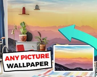 Your Photo on Wallpaper / Custom photo wallpaper / Custom photo wall mural / Custom photo peel and stick wallpaper