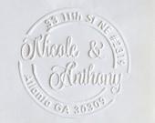Custom Address Embosser,Notary Seal Embosser,Returned Address Embosser Seal kit, hand held embosser