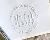 Personalized Monogram Embosser,Notary Seal Embosser,Address embosser, Returned Address Embosser Stamp,hand held embosser