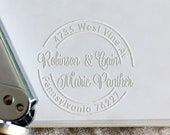 Personalized Embosser with Address , Custom Seal Embosser,Envelopes embosser,Notary Embosser,hand held embosser, Address Seals Embosser
