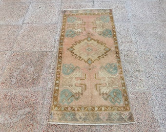 Oushak Floral Rug,1394 Brown Distressed Rugs,4.9.X3.7.feet Large Size Rugs,Turkish Area Rug,Vintage Handknotted Rug
