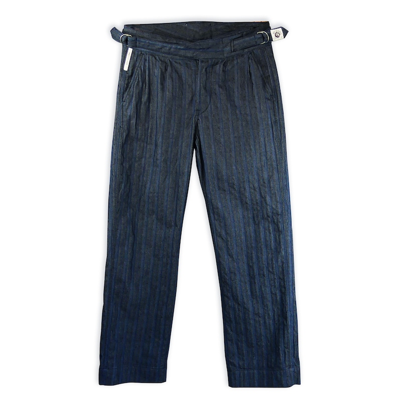 1940s Trousers, Mens Wide Leg Pants Gurkha-style mens trousers retro style military 1940s color BLU $235.98 AT vintagedancer.com