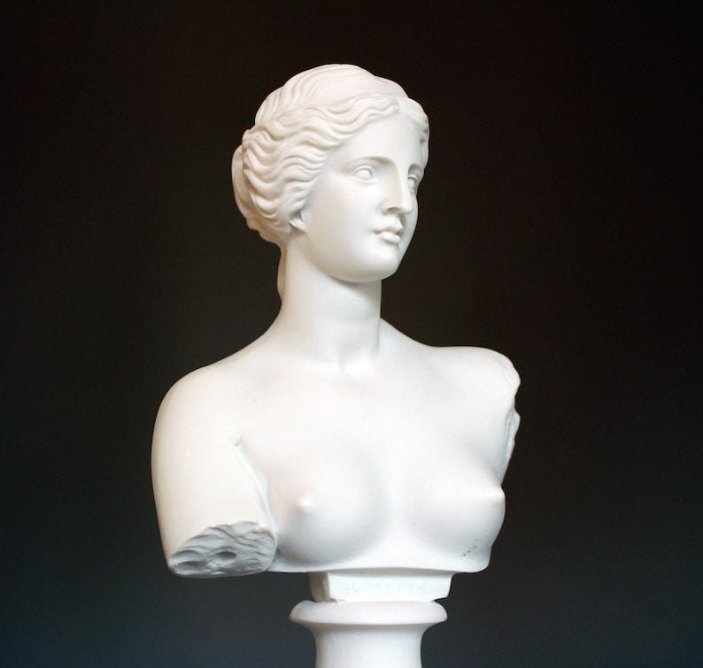 Aphrodite Greek Mythology Goddess Of Love Bust Handmade Greek Art Statue Marble Cast Ancient Greece Female Nude Sculpture Gift 15cm-5.9in