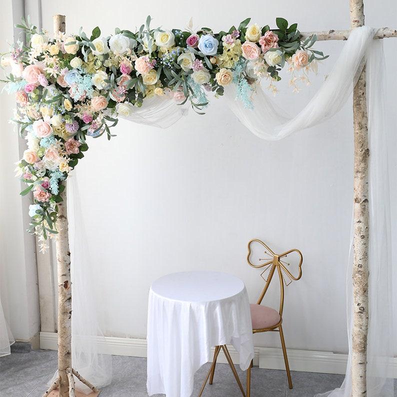Wedding Corner Swag Backdrop Flower Table Runner Outdoor Wedding Shower Decorations Floral Arch Floral Arrangement Stage Backdrop Decor