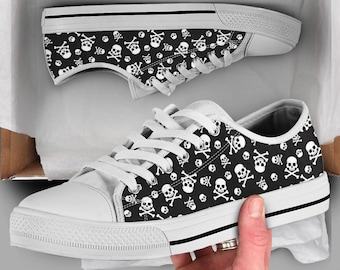 Skull sneakers | Etsy