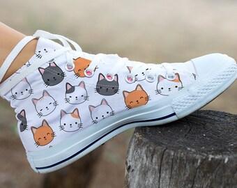 Chats converse personnalisé chats mignons chats drôle nom | Etsy